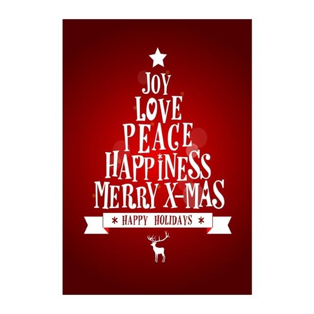 Joy Love Peace Happiness Merry Christmas Decorative Outdoor Indoor Custom Love Peace Happiness