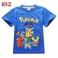 2Y-10Y Pokemon Ir T shrit Crianças 100% Algodão Das Meninas Dos Meninos camisetas de manga Curta Crianças Meninos Tops Esportes Camisetas de Verão roupas