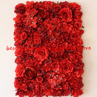 2.4M x 2.4M RED Wedding Rose with Hydrangea Flower Wall Flower Backdrop with aluminium flower wall pipe stand