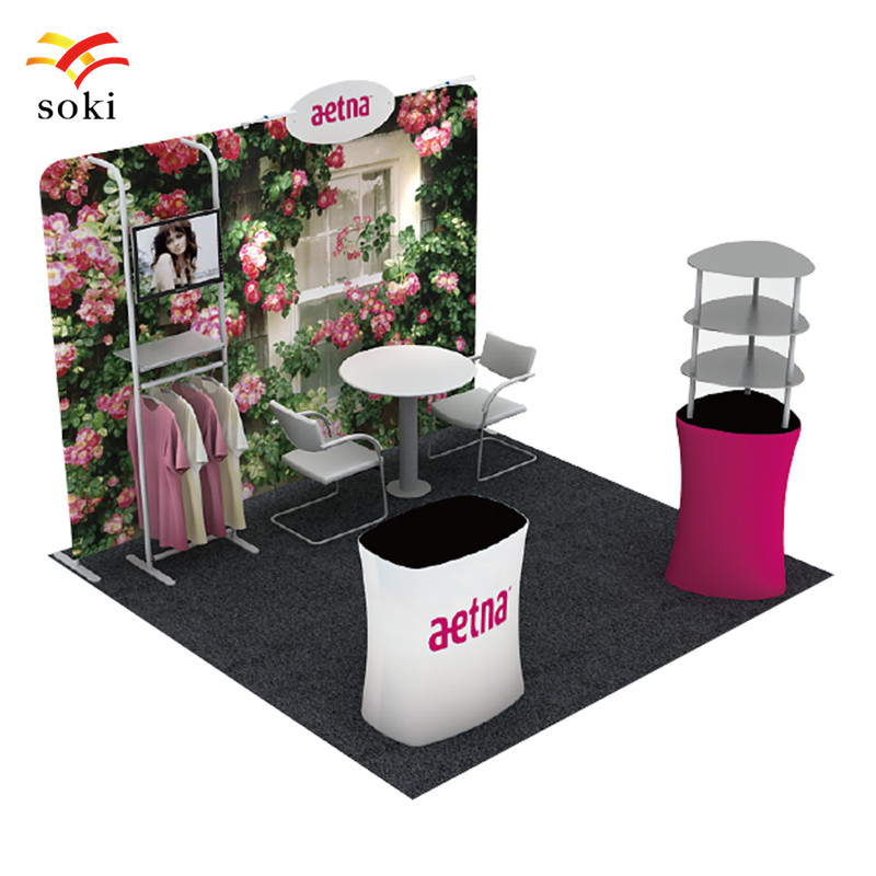 Exhibition Booth System Design Tension Fabric Trade Show