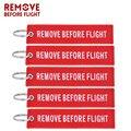 Брелок для ключей с вышивкой «Remove Before Flight», красное украшение для ключей от авиатора, для мотоцикла, автомобиля, 5 шт./лот