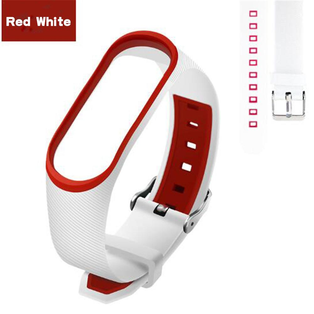 2019 Newest Dual Color Silicone Replacement Wristband Watch Band Strap For MiBand 4 Mi Band 4 MiBand 3 Xiaomi 4/3 Smart Bracelet