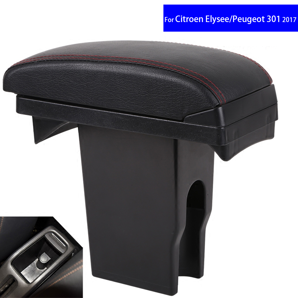 Leather Car Center Console Armrest Box for Peugeot 301 2008 / Citroen C3-XR Elysee 2016 2017 2018 Armrests Free Shipping модель машины citroen c3 xr c3 xr 1 18