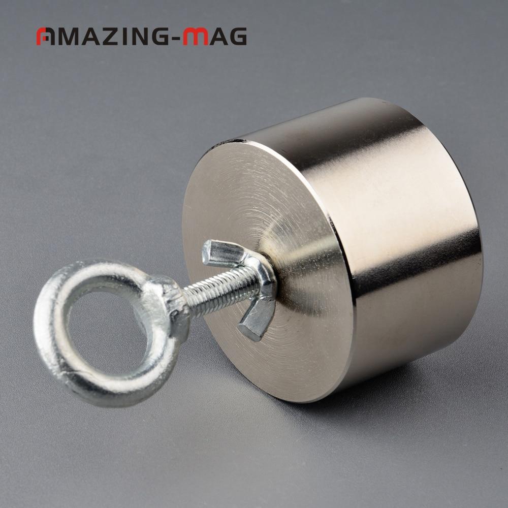 200KG Neodymium Fishing Salvage Magnet+Rope in Box D75mm Metal Treasure Hunter