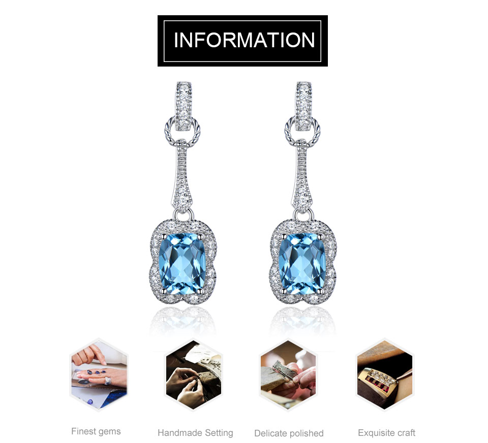 UMCHO swiss blue topaz earrings for women fashion (1)