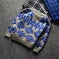 Novo 2016 Duplo movimento Crianças estrela Algodão Blusas Camisas do Pulôver de tricô Cardigans Quentes Tops vestuário infantil SOU-025