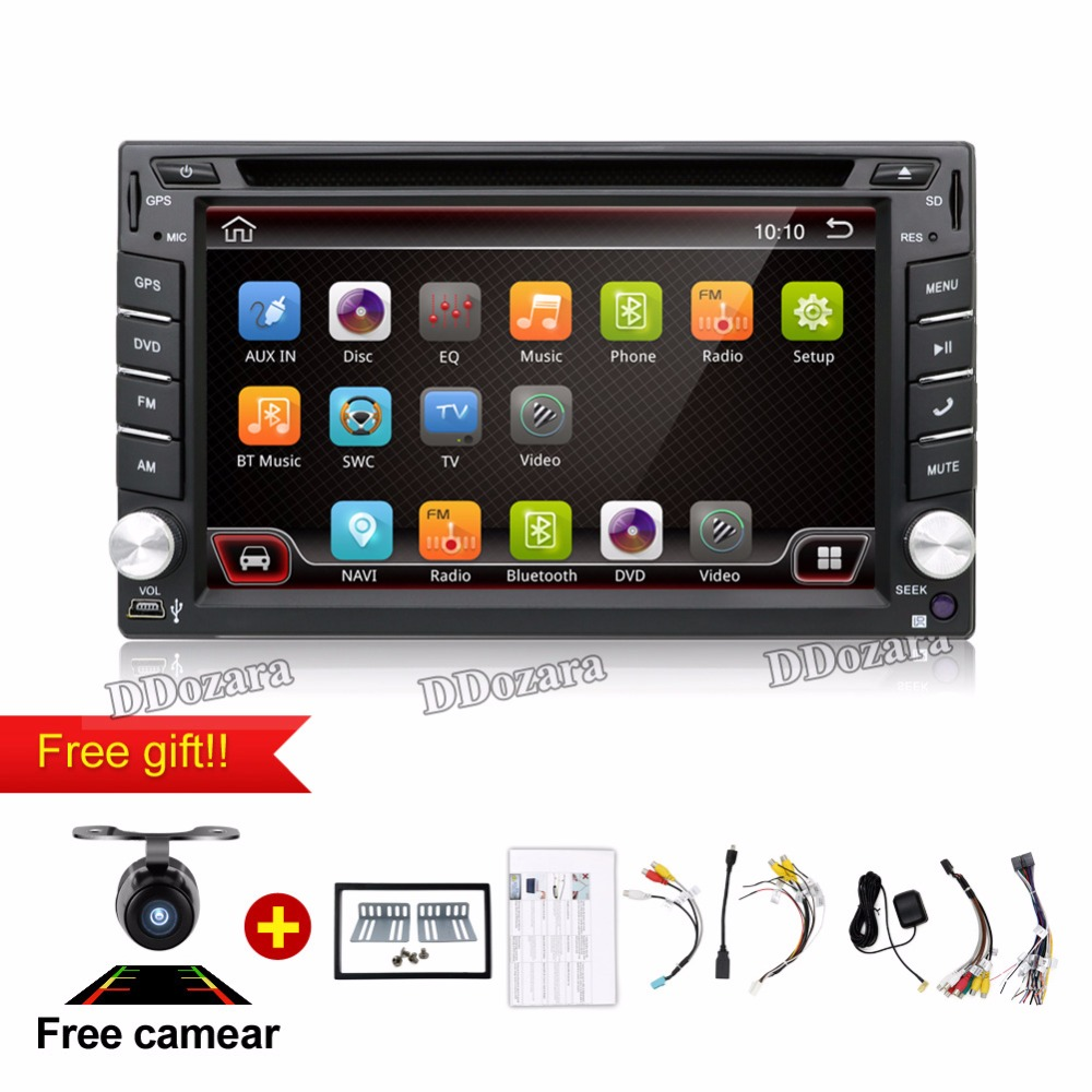 Quad Core 800*480 2 Din Android 6.0 Fit NISSAN QASHQAI Tiida Car Audio Stereo Radio GPS TV 3G WiFi dvd automotivo Universal DDR3 android 5 1 car radio double din stereo quad core gps navi wifi bluetooth rds sd usb subwoofer obd2 3g 4g apple play mirror link