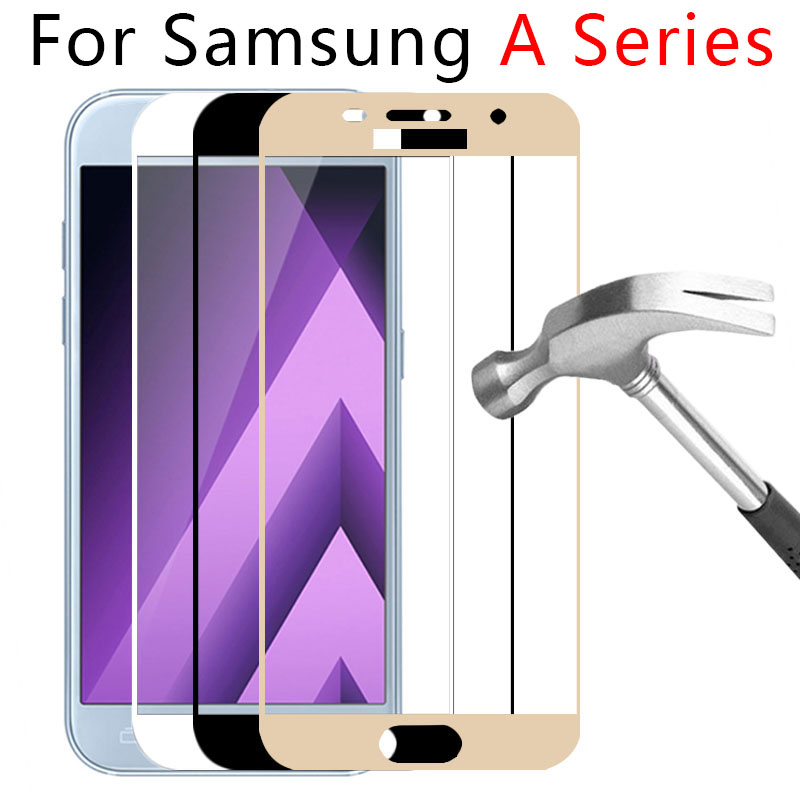 2017 Case For Samsung Galaxy A5 2017 A3 A7 2016 Tempered Glass Phone Full Cover On The Samsun Gelaksi A 3 5 7 A52017 Original 9H
