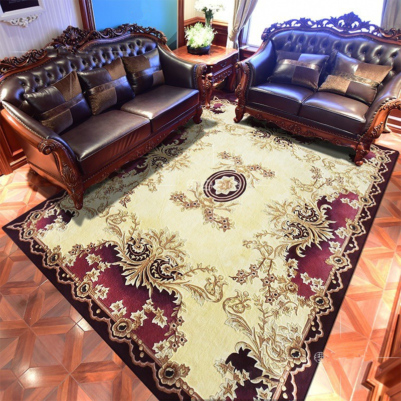 Europe Wool Bedroom Carpet Luxurious Thick Carpets For Living Room Sofa Coffee Table Rug Home Decoration Floor Mat Study Rugs