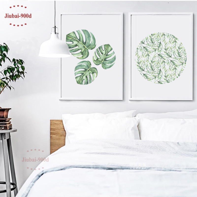 Watercolor Tropical Leaf Canvas Art Print Poster Wall Pictures For Home Decoration Giclee Wall
