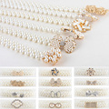 Women Ladies Pearls Crystal Beads Chain Belt Stretchy Flower Buckle Waistband   BLTLL0068