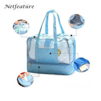 Hot Beach Swim Packs Waterproof Oxford Large Capacity Travel Wash Bathrobe Storage Bags Portable Hanging Wall