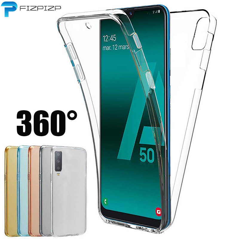 360 Degree Case for Samsung Galaxy A50 A30 A40 A10 M10 M20 M30 M40 A20 A60 A70 Silicone Cover 2 in 1 Front+ Back Soft TPU Case