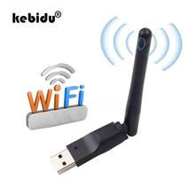 Kebidu Mini inalámbrico adaptador WiFi USB MT7601 tarjeta de red LAN 150 Mbps 802.11n/g/b/tarjeta de red LAN wifi Dongle para Set Top Box(China)