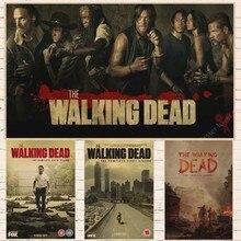 The Walking Dead  season 7 anime TV Vintage Retro Matte Kraft Paper Antique Poster Wall Sticker Home Decora