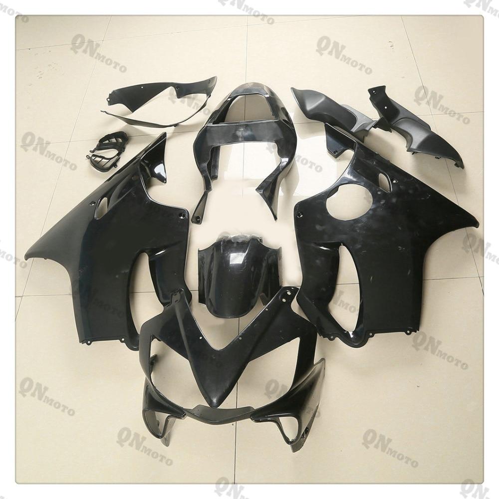 Motorcycle Unpainted Black Fairing Cowl Body work Kit For Honda CBR600F CBR 600 F  F4i 2001 2002 2003 + 4 Gift