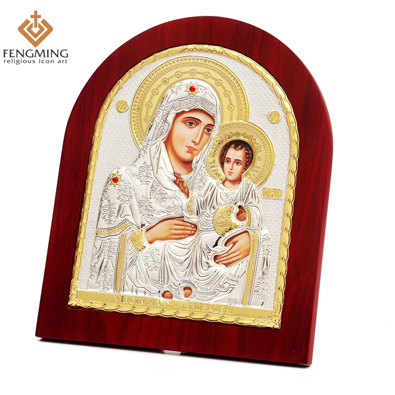 Wood Metal Silver Orthodox Religious Catholic Baptism gifts Handmade Crafts Mother Mary Jerusalem & Jesus Christ for saleWood Metal Silver Orthodox Religious Catholic Baptism gifts Handmade Crafts Mother Mary Jerusalem & Jesus Christ for sale