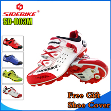 Sidebike MTB Cycling Shoes Mountain Bike Shoes Highway Lock Men Athletic mtb Bicycle Shoe Cycling sapatilha ciclismo White