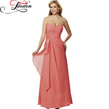 JAEDE Sleeveless Detachable Wide Shoulder Straps Long Women Party Gowns 2017 E436 Pleated Sweetheart Bodice Bridesmaid Dresses