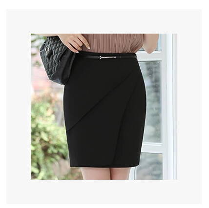 704a41cb054 Female Formal Work Wear Pencil Skirts Mid Waist Elegant Skirts Professional  Spring Summer OL Suit Skirts Step Skirt