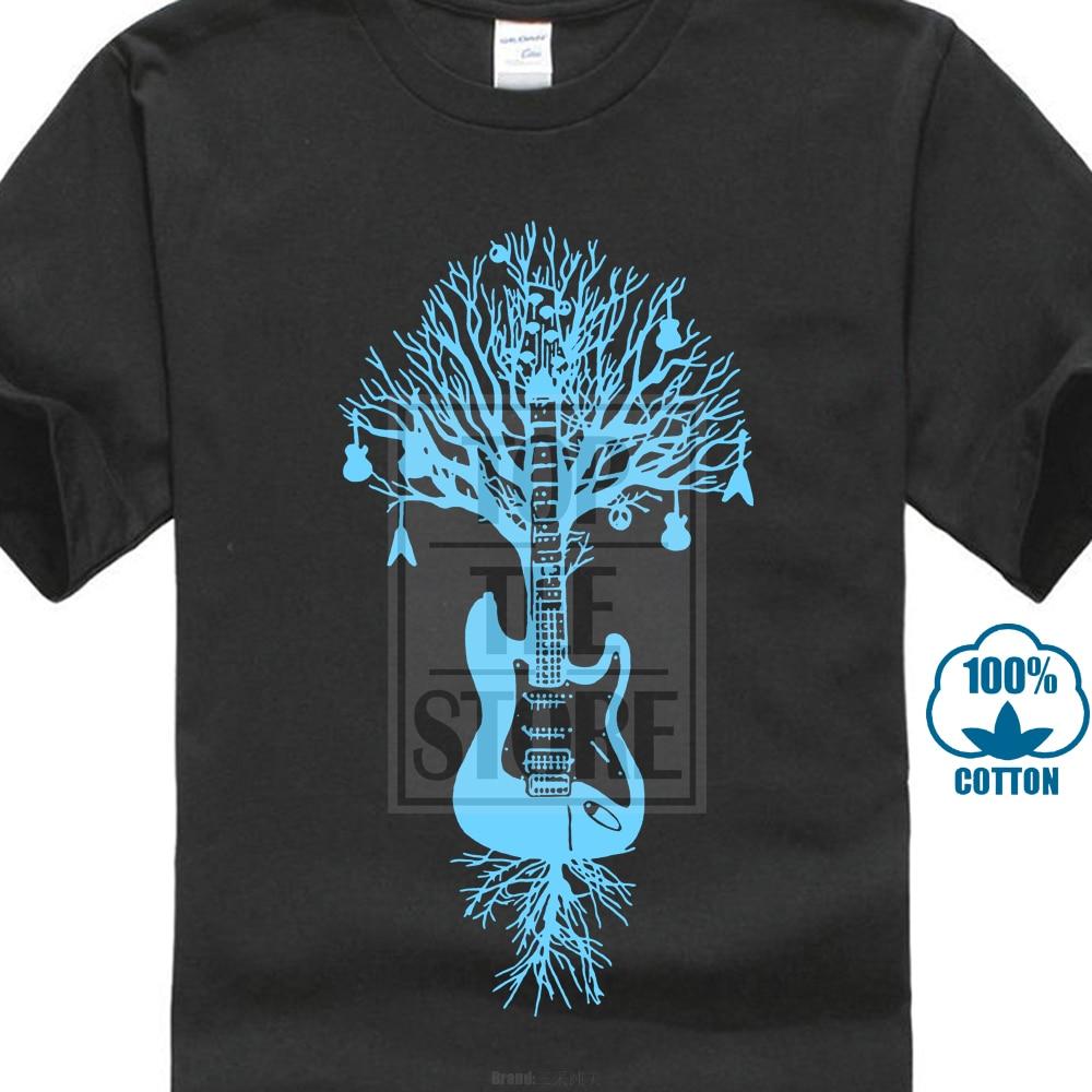 Guitar Tree Graphic Art Music Men/'s T-SHIRT woodstock rock metal roots S-XXL