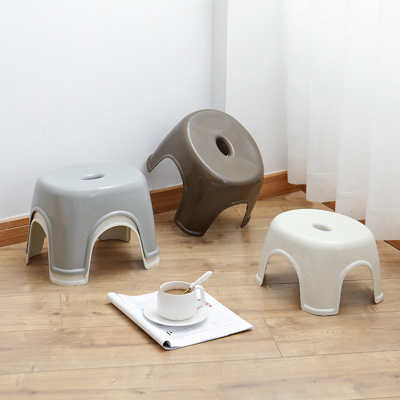 Household Small Bench Anti-skid Coffee Table Stool Plastic Simple Stool Adult Thickening Children's Stool For Shoes Stool  3