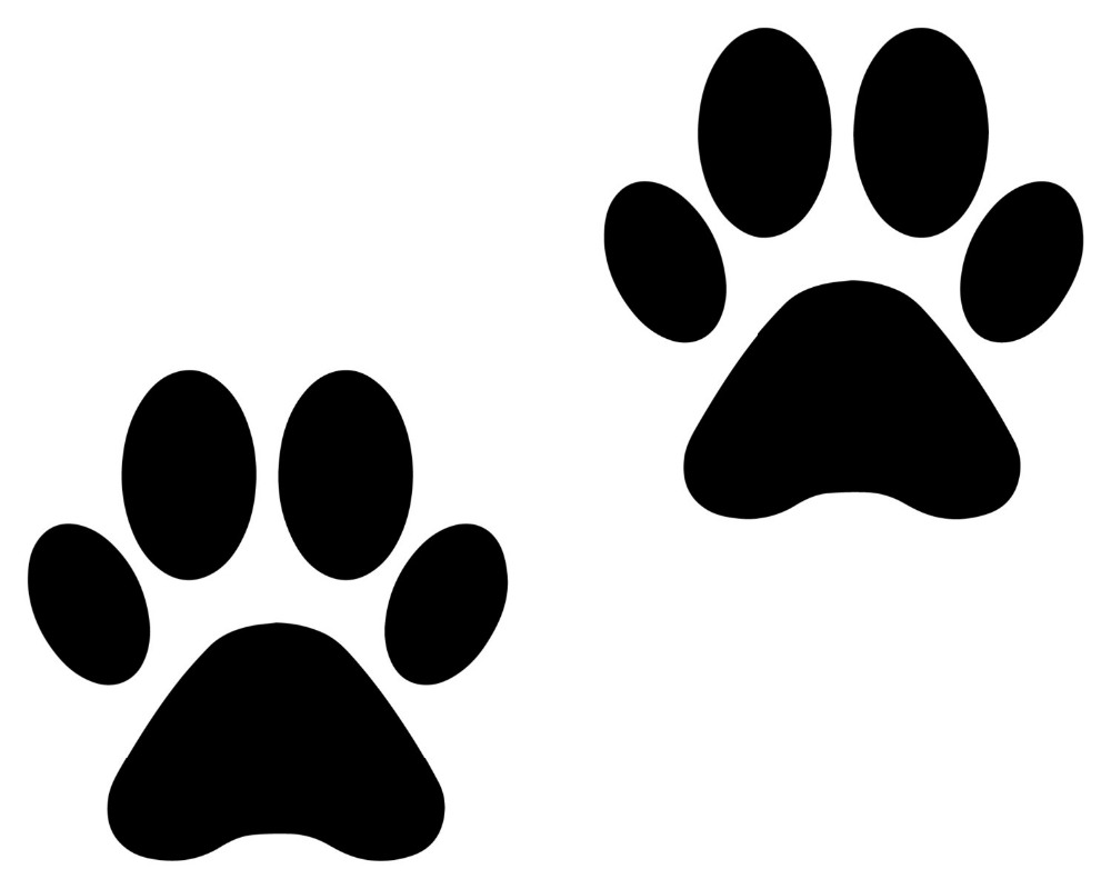 Set Of 8 Animal Paw Print Shape Vinyl Stickers Diy