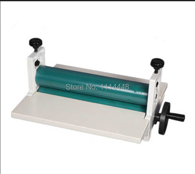Brand New 14 350mm Manual Laminating Machine Photo Vinyl Protect Rubber Cold Roll Laminator free shipping new replacement power tool battery plastic case and hardwares for makita 18v bl1830 lithium