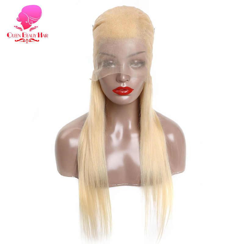 Volle Spitze Menschliches Haar Perücken 8-26 Inch Lange Brasilianische Gerade Remy 613 Blonde Ombre Farbe Glueless Volle Spitze perücken mit Baby Haar