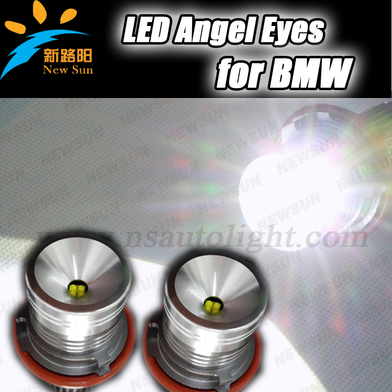 Free shipping E39 4 * 5W CREE chips Led Ring Marker light Angel Eyes led marker angel eyes for BMW E53 E60 E61 E63 E64 E65 E66 1 pair free shipping high power cree angel eyes led maker lamp fit for bmw e39 e53 e60 e61 e63 e64 e66
