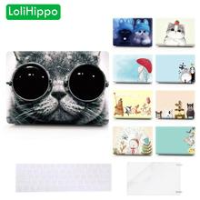 LoliHippo Cat Series Laptop Protective Case for Apple Macbook Air Pro A1707 A1990 11 13 15 Inch Notebook Cover for A1706 A1989