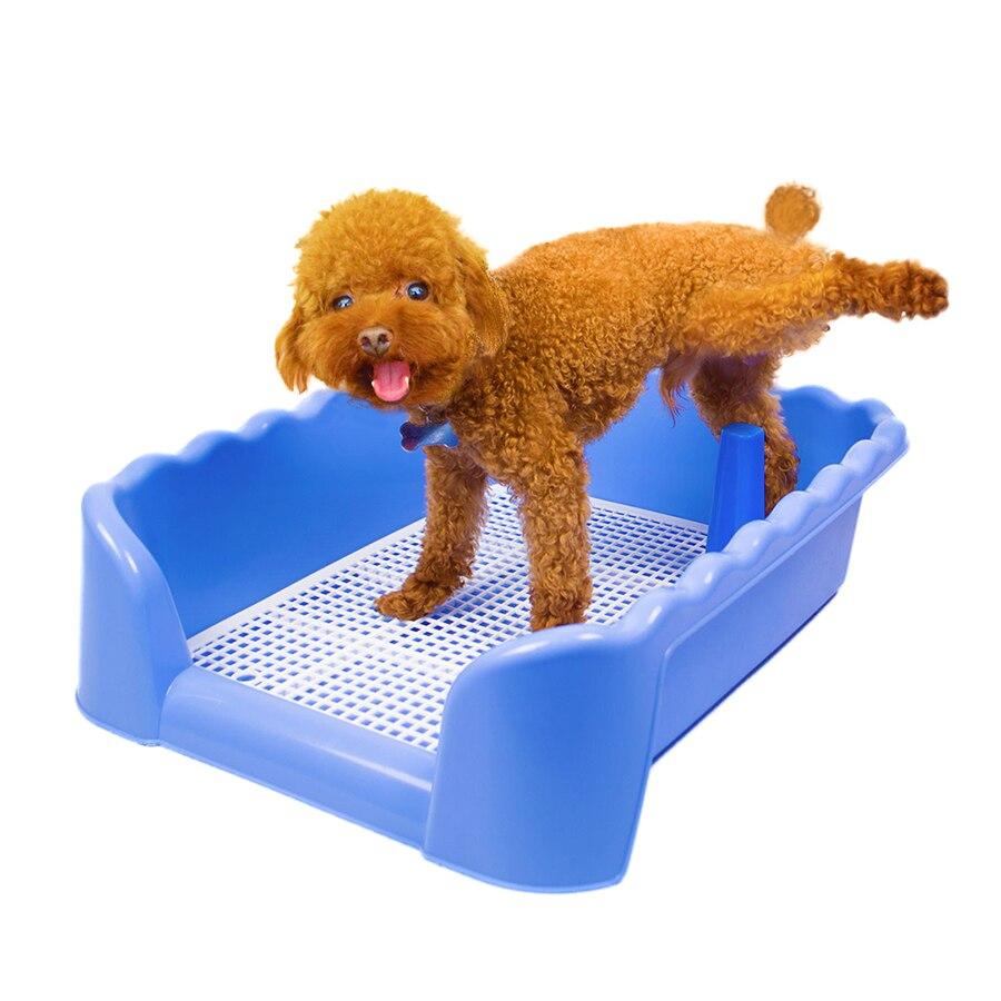 Inddor chien toilette formation plastique caca Pet nettoyage Massage toilettage gants damier caca Scooper Orinar chiens fournitures 90Z1876