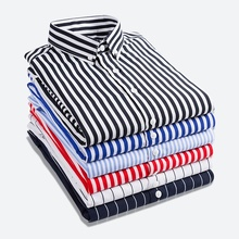 Zogaa 2019 Spring Striped Men Shirt Business Casual Cotton Long Sleeved Classic Camisa Masculina Size XS- XXL Hot Sale