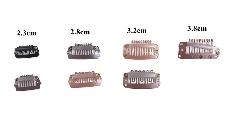 We supply Originea Stainless 10 Single Teeth Wigs Snap Clips Toupee Snap Clips for Hair Extension Weft Hair Extensions
