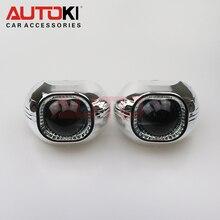 Autoki Projector Lens 3.0 Square Q5 Koito D2H Bi-xenon HID Bixenon Projector Lens LHD/RHD Quick Install for H4 Car headlight