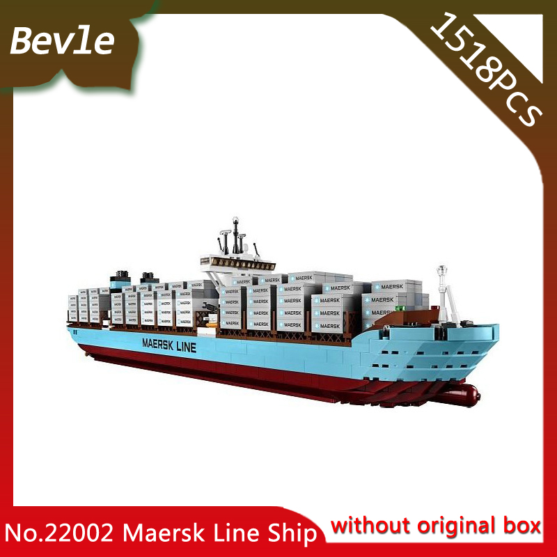 Bevle Store Lepin 22002 1518pcs Technic Series Maersk Cargo Container Ship Building Blocks set Bricks Children Toys 10241 lepin 22002 1518pcs the maersk cargo container ship set educational building blocks bricks model toys compatible legoed 10241