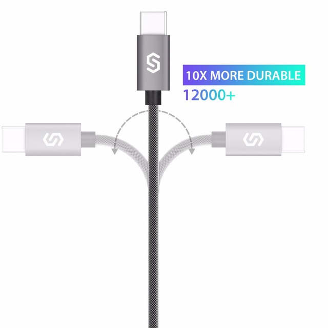 Syncwire USB 3.0 USB-C Cable 2.4A Fast charging Nylon Braided USB Type C Charger For Apple New Macbook Xiaomi mi5 OnePlus 3T