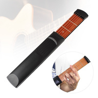 Portable Pocket Guitar Practice Tool Gadget Chord Trainer 6 String 6 Fret Model Acoustic Guitar Musical
