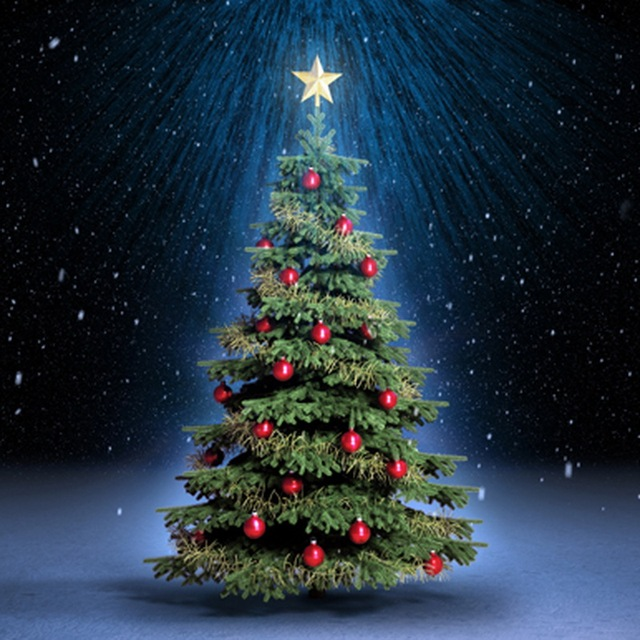 Decorated Christmas Tree Photo Background For Kids Photography