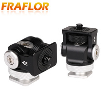 Portable 180 Rotate Snail Monitoring Tripod Hot Shoe Adapter Stabilizer Holder Stand Bracket with 1/4