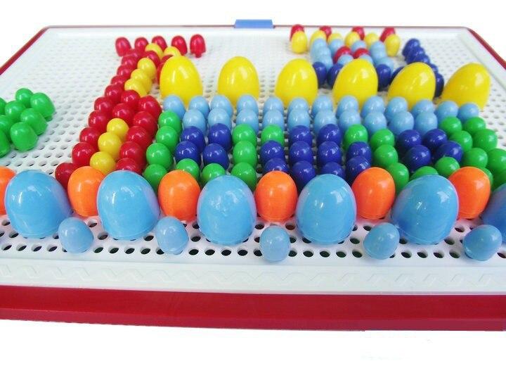 От 3 до 7 лет пазл старые игрушки 296 шт./компл. гриб гвоздя бой вставлены комбинации Хлопушки шарики вставлены развивающие игрушки