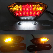 В Высокое качество 12 В Универсальный мотоцикл 20 светодио дный LED дым объектив Хвост Стоп номерные знаки для мотоциклов лампа квадроцикл