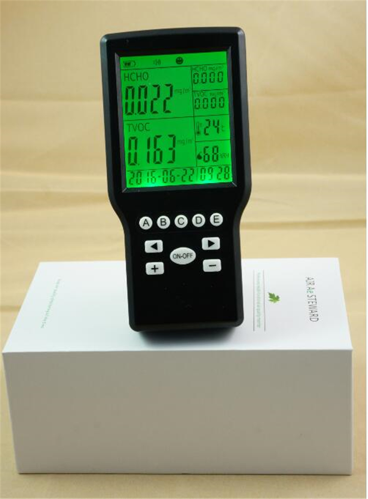 Free shipping Indoor air quality IAQ tvoc monitor Formaldehyde air quality detector digital indoor air quality carbon dioxide meter temperature rh humidity twa stel display 99 points made in taiwan co2 monitor