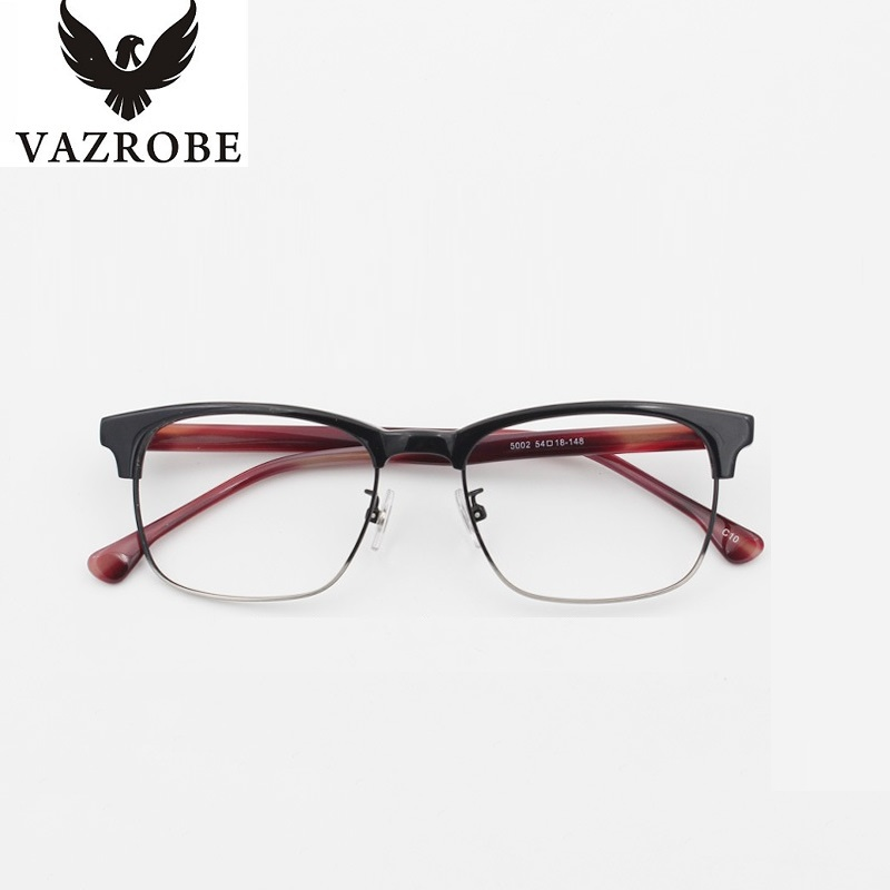 vazrobe best acetate oversized eyeglasses frame men prescription spectacles semi rimless eye glasses frames for man