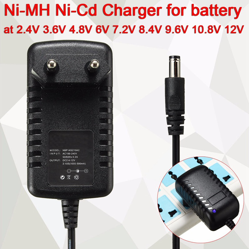 Battery Charger Auto Ni-MH Ni-Cd for 2.4V 3.6V 4.8V 6V 7.2V 8.4V 9.6V 10.8V 12V 7 Product Ratings ratings