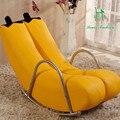 Creativo Único sofá perezoso silla mecedora mecedora solo plátano personalidad encantadora Europea moderna pequeño sofá
