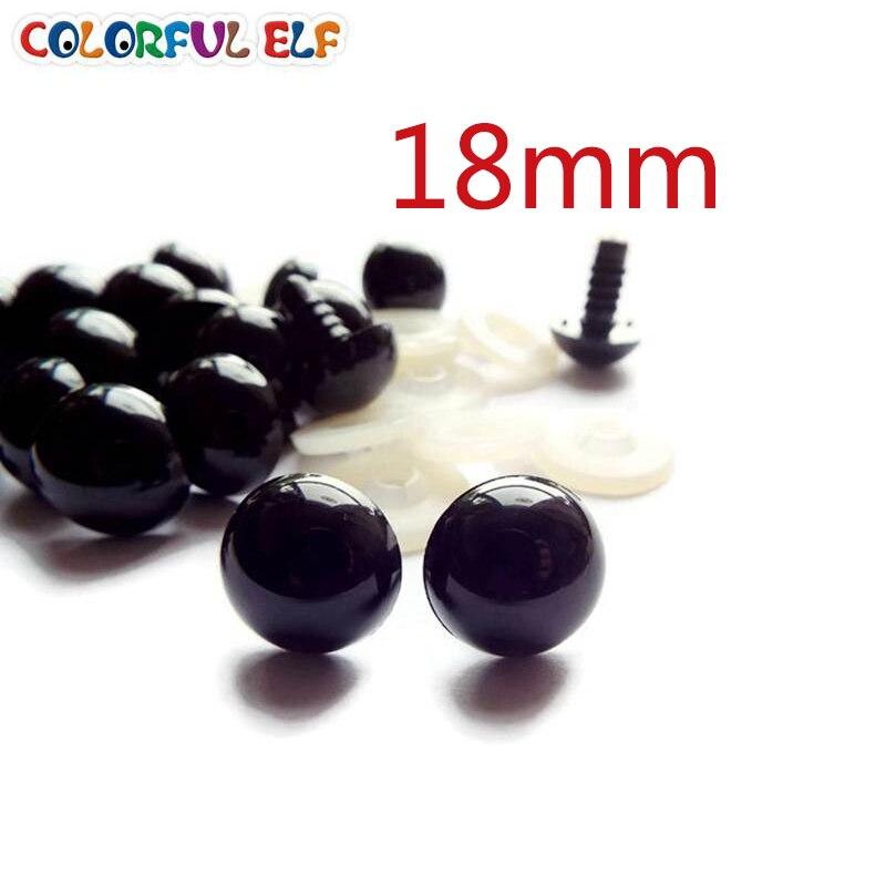 ̿̿̿(•̪ )50 pares 18mm Seguridad negro Ojos aptos para el oso de ...