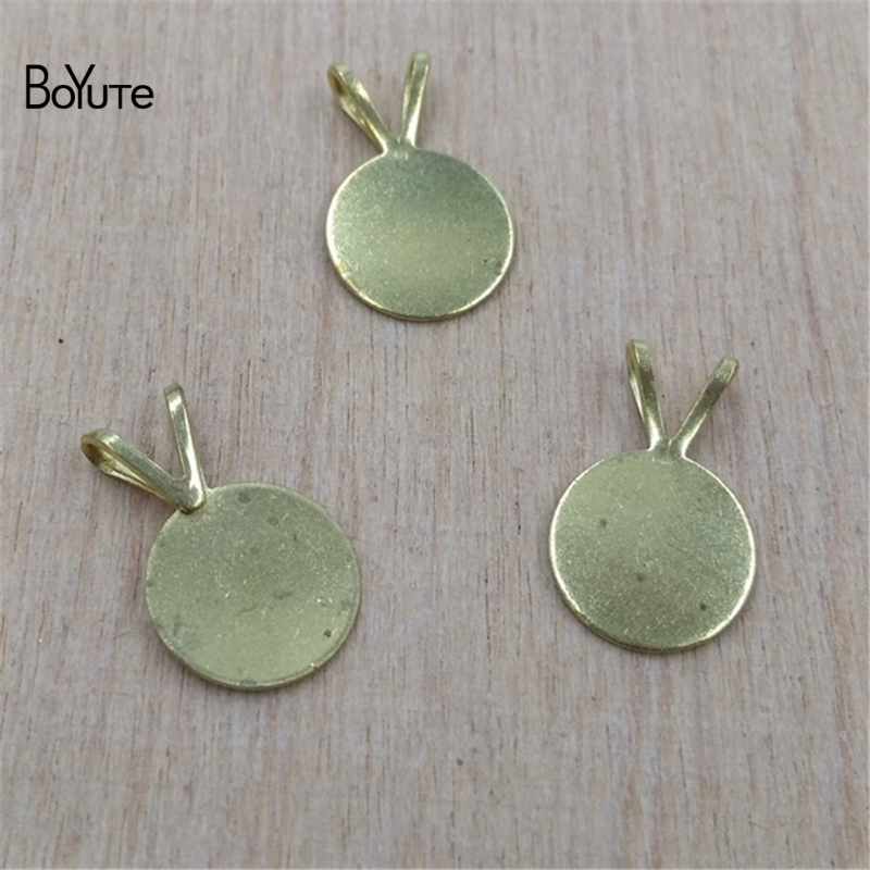 BoYuTe 100Pcs Round 10MM Metal Stamping Blanks Base Diy Jewelry Findings Components
