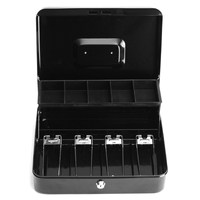 11.8 x 3.6 x 9.4 inch Safurance Cash Box Money Drawer Key Locking Safe Lock Tiered Tray Storage For Security