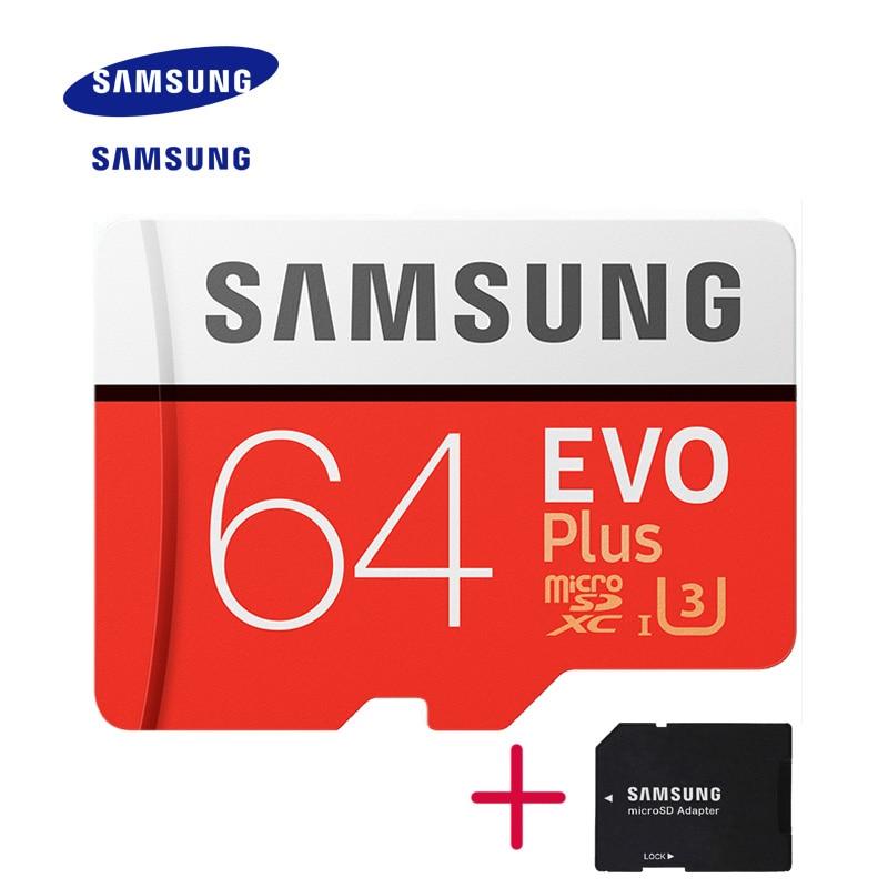 New Product Original SAMSUNG EVO Memory Card Micro SD TF Card 64GB Class10 U3 4K HD Read speed up to 100 MB/s (2017 Model)